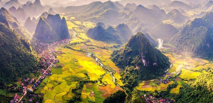 le nord et le sud du Vietnam